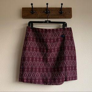 LOFT — diamond button wrap skirt